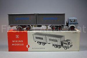 U531 Wiking Modèles Remorque Porte-conteneur Ho Alu 52 A 7356 Camion Danzas 521