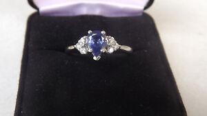 034-HOLIDAY-SPECIAL-034-PT900-Platinum-Natural-Tanzanite-Genuine-Diamond-Ring-Size-7