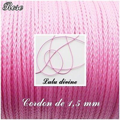 Argent Fil en polyester de 1 mm 3 m Cordon couleur