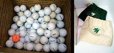 126 Golf Ball Lot Regular Practice Titleist Strata Calaway Pinnacle Dunlop Bags