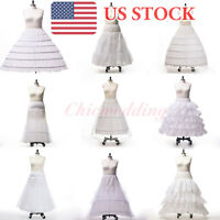 Plus Size A-line Ball Gown Mermaid Wedding Petticoat Crinoline Slips 9 Styles