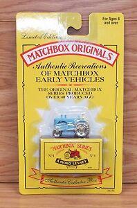 Genuine-Matchbox-Originals-No-4-34370-Moko-Lesney-Blue-Tractor-NEW-RARE