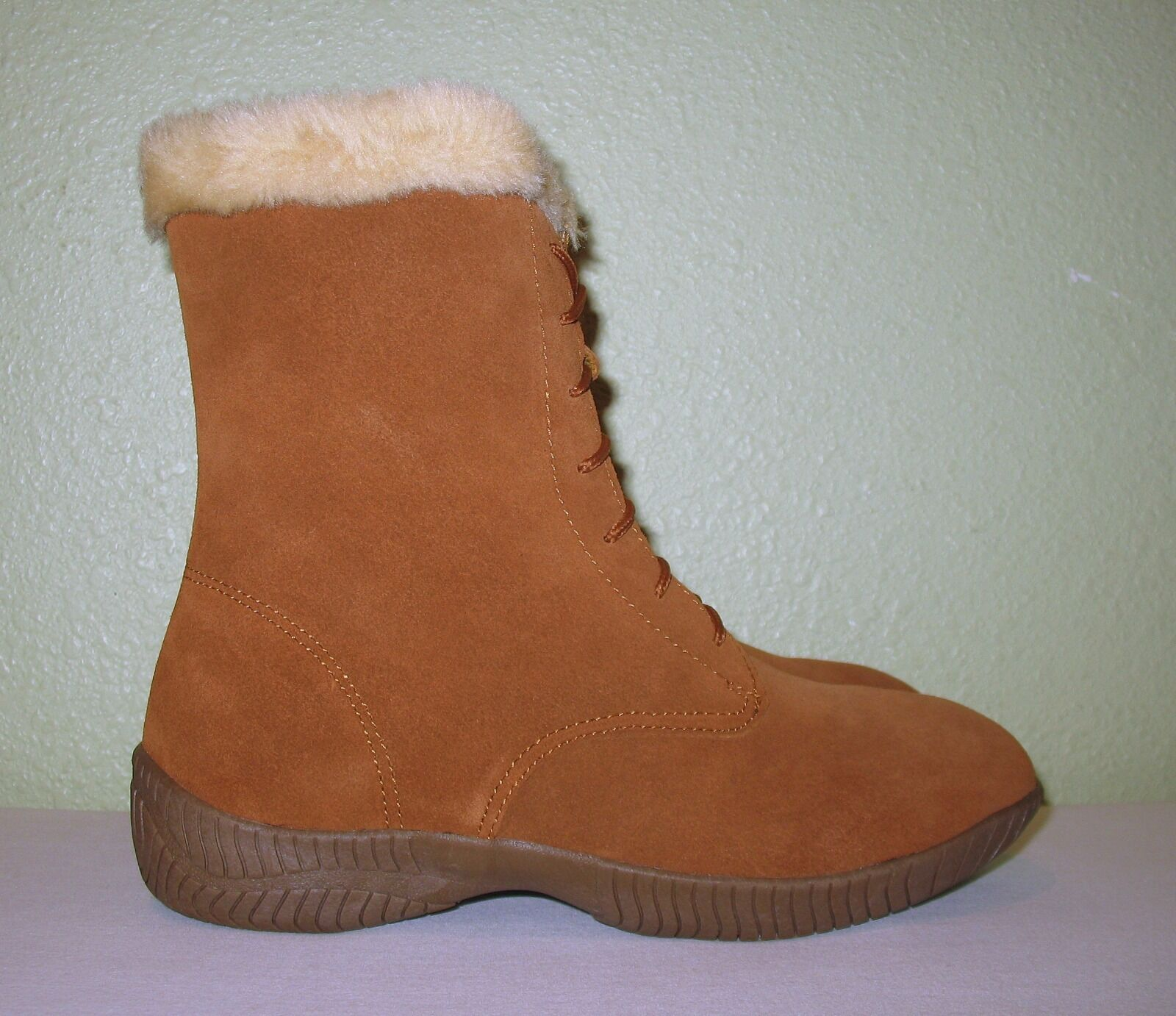 Damenschuhe CHESTNUT BROWN SUEDE LEATHER LEATHER SUEDE LACE-UP WINTER Stiefel NEW US 9 EUR 39 39.5 40 958f2c
