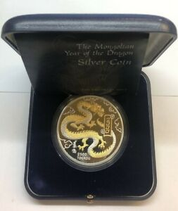 Mongolia-2000-2-500-Togrog-5oz-999-Silver-Proof-Year-of-the-Dragon-Mintage-2-000