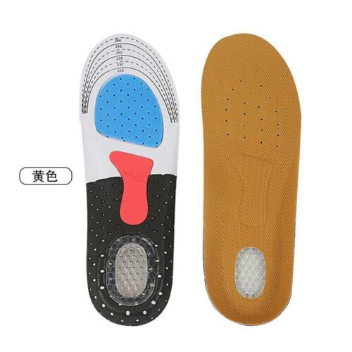 Unisex Gel Orthotic Sport Running Insoles Insert Shoe Pad Arch Support Cushion W