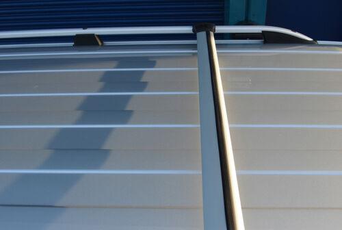 2012+ Conjunto De Riel Alu Barra transversal para adaptarse a Techo Barras Laterales Para Ajuste Ford Transit personalizado