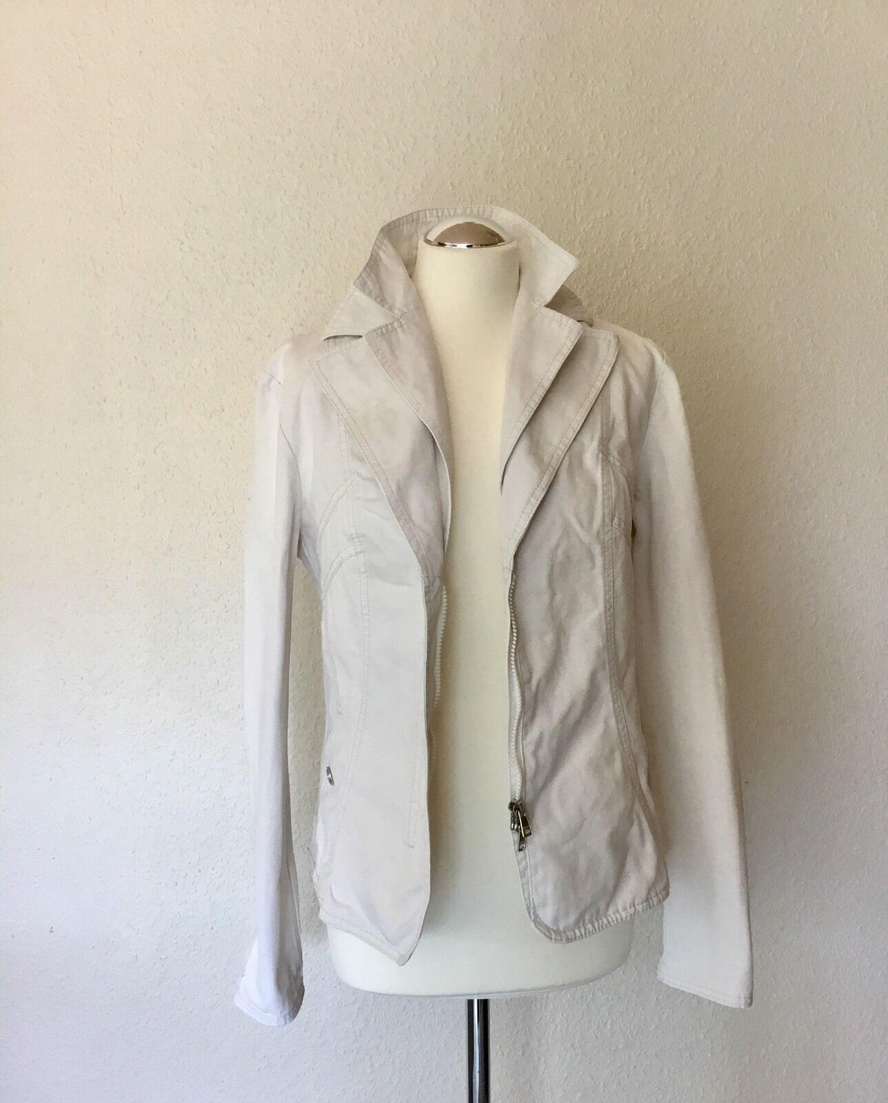 MARCCAIN  SPORTS Jeans Jacke mit RV, Weiß, Größe 40 N4
