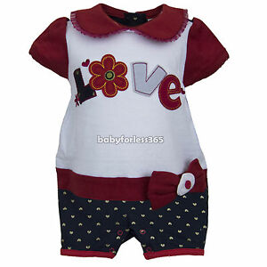 New Nanette Love Baby Girls Play Wear Outfits One Piece Size 3 6 9 months