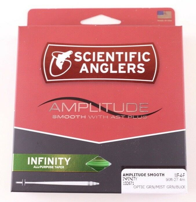 Scientific Anglers Amplitude Smooth Infinity WF4F Fly Line Optic FREE FAST SHIP