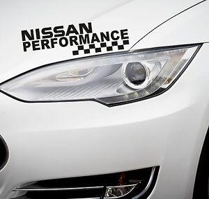 Performance Car Headlight Sticker fits Nissan Decal Sticker Car ...
