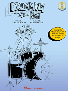 DRUMMING-FROM-TOP-TO-BOTTOM-Learn-How-To-Play-Drums-Beginners-Music-Book-amp-CD