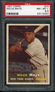 Willie-Mays-1957-New-York-Giants-Card-10-PSA-8-5