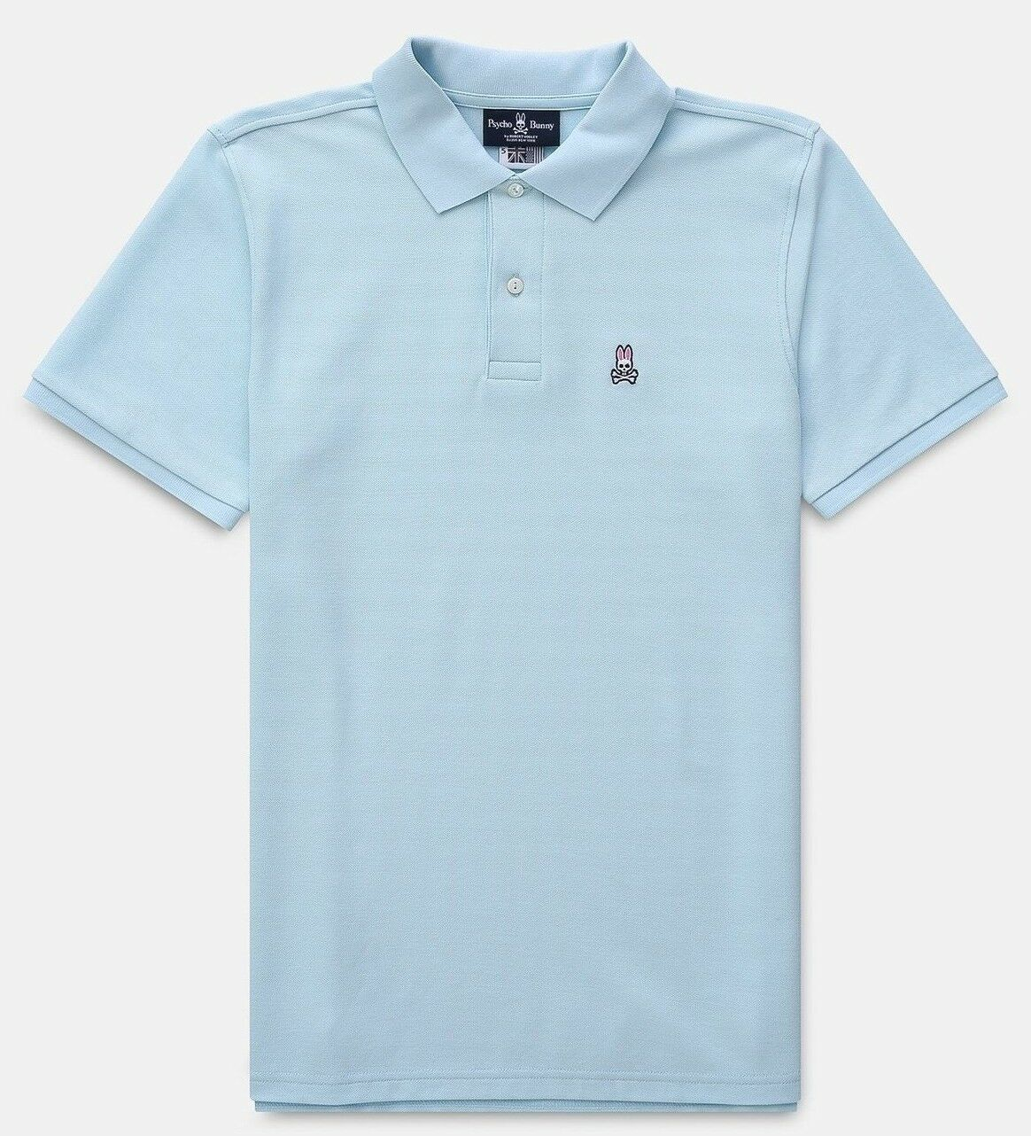 Psycho Bunny Men's Cerulean bluee Embroidered Logo Pima Cotton Classic Fit Polo