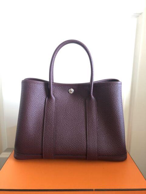 Hermes Garden Party 30cm Vert Vertigo Negonda Leather For Sale