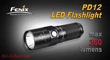 Fenix PD12 Cree XM-L2 (T6) LED Taschenlampe Flashlight 360 Lumen inkl. Batterie