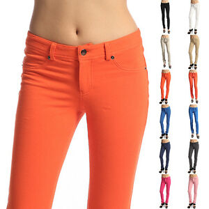 MOGAN-Basic-Colored-Stretch-JEGGINGS-SKINNY-PANTS-Comfy-Knitted-Jean-Leggings