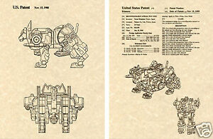 Transformers METROPLEX US Patent Art Print READY TO FRAME Combiner Decepticon