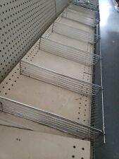1set Retail Gondola Chrome Wire Shelf Divider System Front Fence Five Dividers