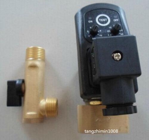 110v De 1/2 Pulgada Compresor Auto condensado de cerebros Temporizador válvula de solenoide