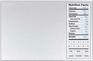 Nourish Digital Kitchen Food Scale and Portions Nutritional Facts Easy to Clean