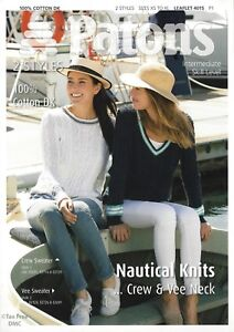 9e40a91c9 Image is loading VAT-Free-Knitting-PATTERN-ONLY-Patons-Ladies-Nautical-
