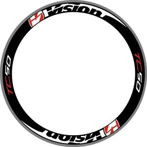 TC50 Carbon Wheel Rim Decals Stickers Replacement For 700C Racing Cycle 2RIMS