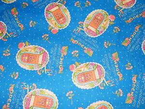 BTY-Mary-Engelbreit-KEY-to-HAPPINESS-Print-100-Cotton-Quilt-Craft-Fabric-Yard