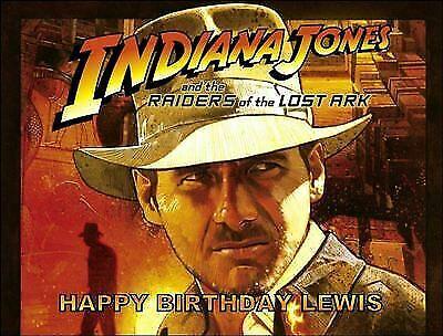 Terrific A4 Indiana Jones Raiders Of The Lost Ark Film Edible Icing Funny Birthday Cards Online Inifodamsfinfo
