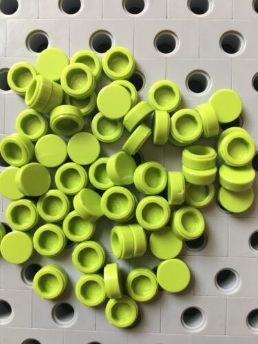 Lego 1x1 Lime Green Round Smooth Finishing Tile Dot Floor Roof New Lot Of 25