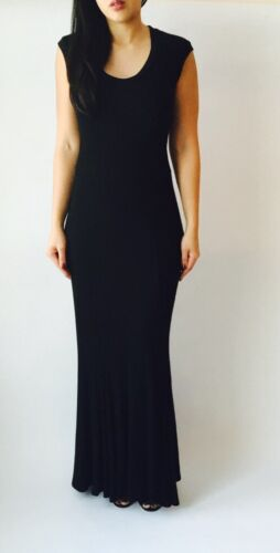 Capped Sleeve Knit Maxi Dress