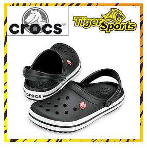 Crocs Crocband Black / Schwarz Sandalen Schuhe Clogs CB6 Gr en 36 48