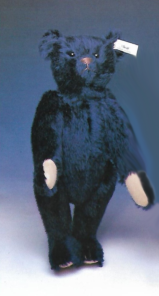 STEIFF  TEDDY BEAR DARK blu  EAN 406508 REPLICA OF 1909 STEIFF BEAR-JOINTED