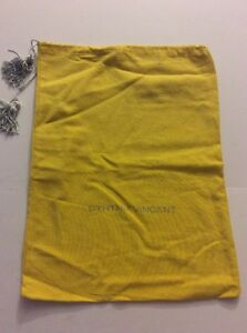 Pre-Owned-Medium-Sized-Cynthia-Vincent-Yellow-Dust-Bag-EUC