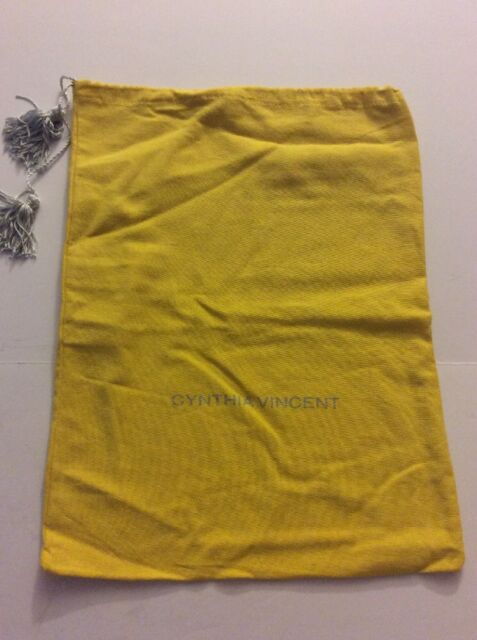 Pre-Owned Medium Sized Cynthia Vincent Yellow Dust Bag EUC