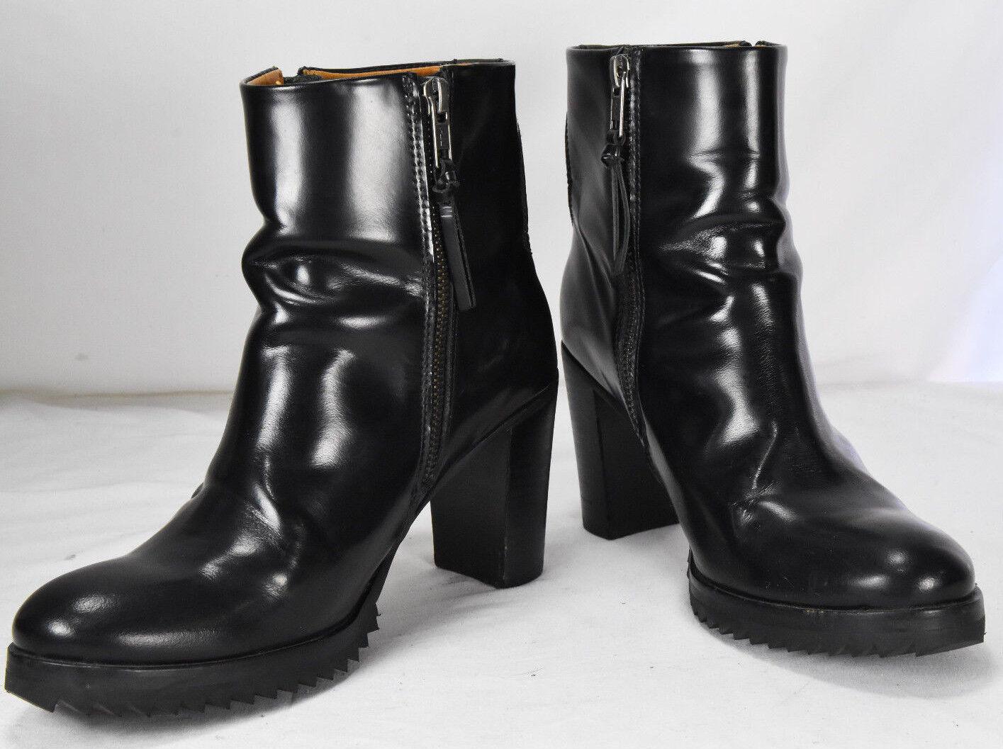 articoli promozionali ROYAL REPUBLIQ nero Patent LEATHER Zip Up Up Up ANKLE RIDING stivali SZ 38 US 8  essere molto richiesto