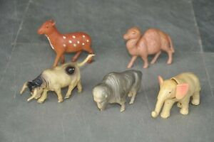5PC-Vintage-Diferentes-Celuloide-Colorido-Animal-Estatuillas-Japon