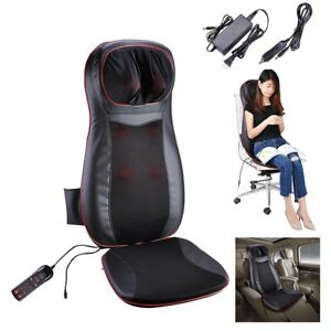 Image Is Loading 3D Massage Seat Cushion Pad Shiatsu Kneading Vibration