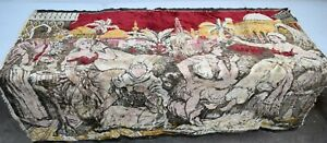 Vintage-Middle-Eastern-Women-Tapestry-Wall-Hanging-Rug-66-X-45-Soft-Velvet