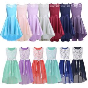 UK Kids Girls Dress Princess Party Wedding Pageant Casual Beach Chiffon Dresses