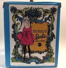 Vintage Barbie Case 1968 Mattel World of Barbie Doll Vinyl Plastic Case Toy
