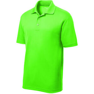 Image Is Loading Men 039 S High Vis Safety Dri Polo