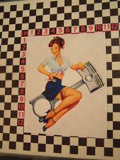 Sexy Vintage Style Scooter Girl Sticker - Lambretta
