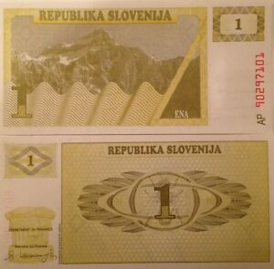 Slovenia P-2a 2 Tolar Year 1990 Uncirculated Banknote