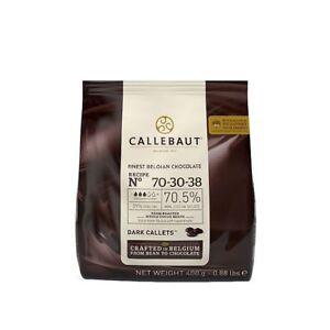 Callebaut Finest Chocolat Belge Foncé Callets Extra Amer 70.5% - 400 G-afficher Le Titre D'origine
