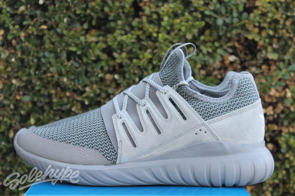 ADIDAS TUBULAR RADIAL SOLID SZ 9.5 CHARCOAL SOLID RADIAL Gris S76718 40d887