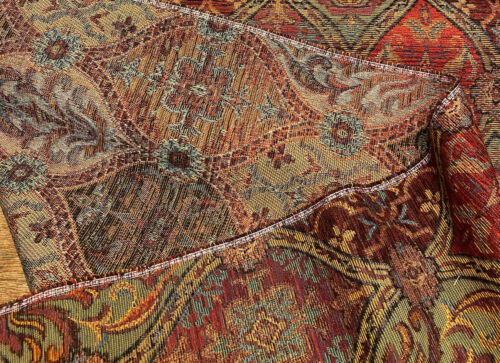 Upholstery Hindley Mill Creek Cayenne Chenille Fabric By The Yard