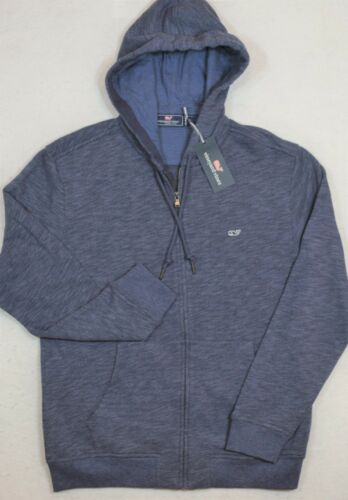 Vineyard Vines Hoodie Basic Full Zip Deep Bay Blue Size M Medium NWT