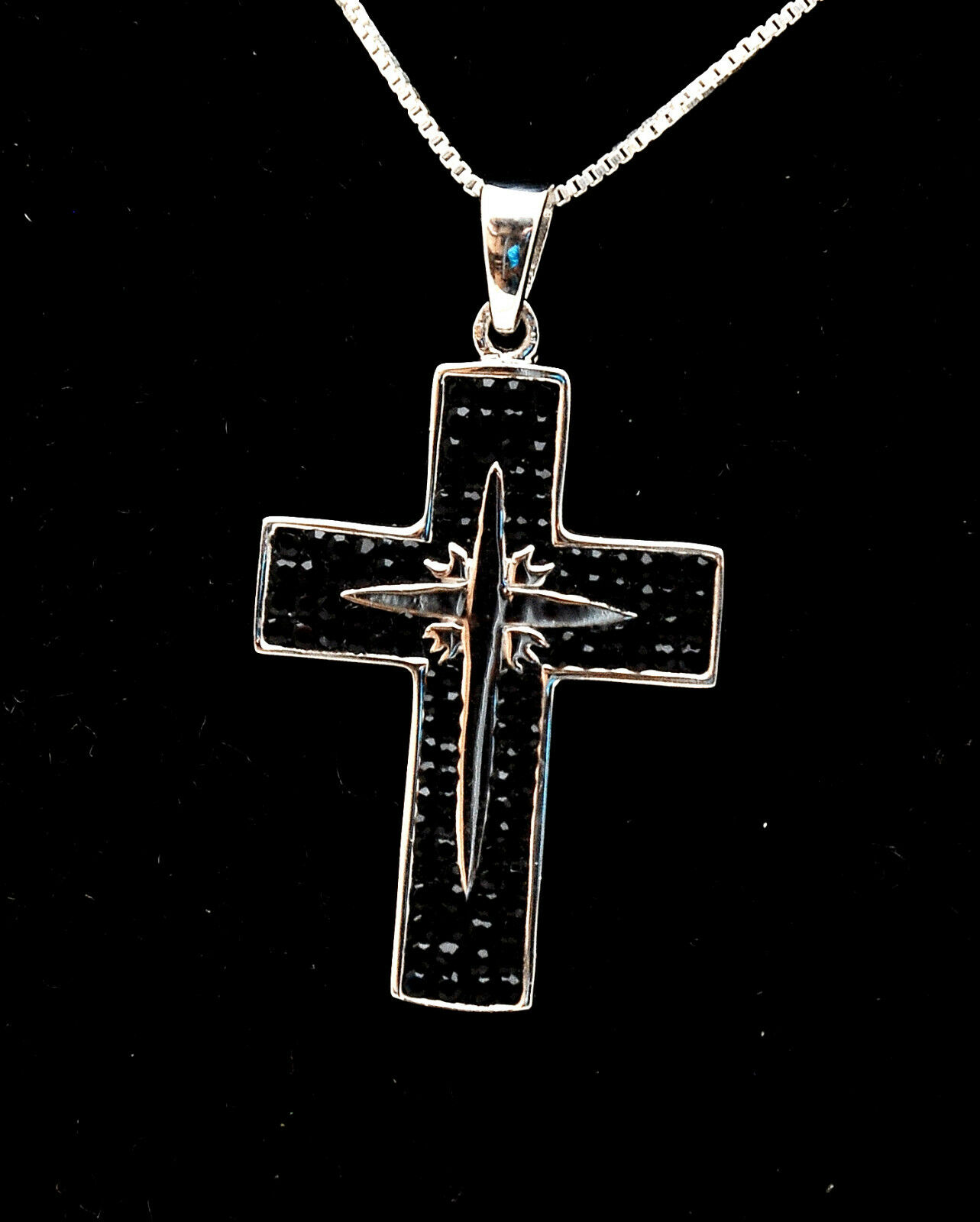 Christian Cross Pendant With Swarovski colord Gemstones 1