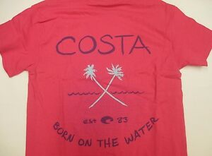New Authentic Costa Short Sleeve T-Shirt Hot Pin with Palm Logo - Female Cut