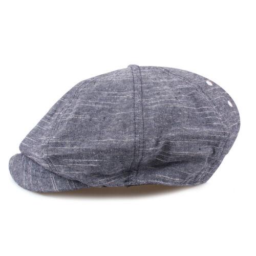 Unisex Mens Slub Eyelets Tweed Baker Boy Cabbie Gatsby Flat Cap Newsboy Hats